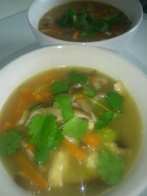 citronnelle cuisine soupe de poulet chignons shitake citronnelle