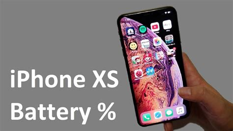 iphone xs battery percentage how to show ios 12
