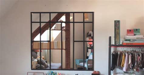 fabriquer une verriere dinterieur en miroirs marie claire