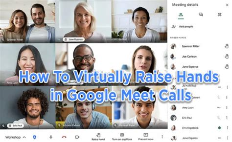 How can you use the google meet raise hand feature as a participant? How To Virtually Raise Hands in Google Meet Calls