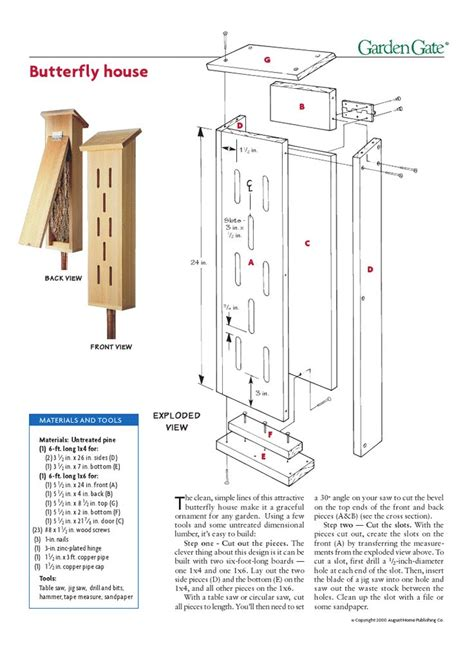 building plans houses woodwork diy butterfly house plans plans pdf free