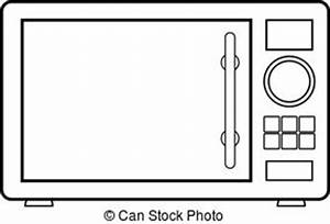 Microwave clipart black and white 5 » Clipart Station