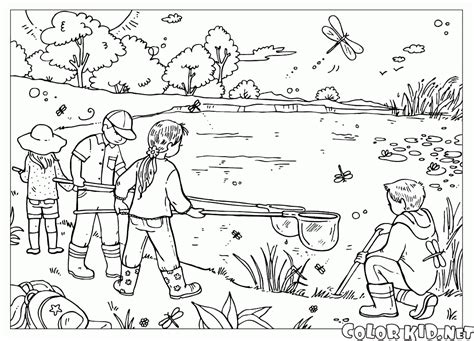 coloring page seasons summer