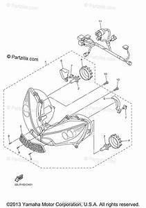 Yamaha Motorcycle 2005 Oem Parts Diagram For Headlight