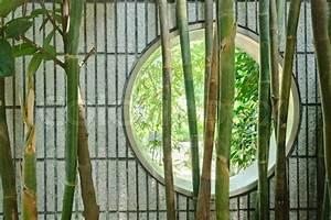 Bambus Im Garten : round chinesischen fenster in der wand im garten mit ~ Michelbontemps.com Haus und Dekorationen