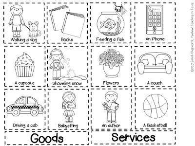 goods  services sort freebie perfect  kindergarten