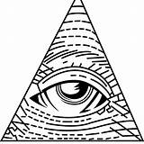 Illuminati Coloring Eye Seeing Simple Designlooter Drawings sketch template