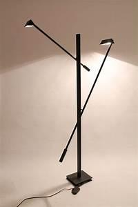 7 feet tall 1970s floor lamp kinetic 2 arms italian With 7 foot tall floor lamp