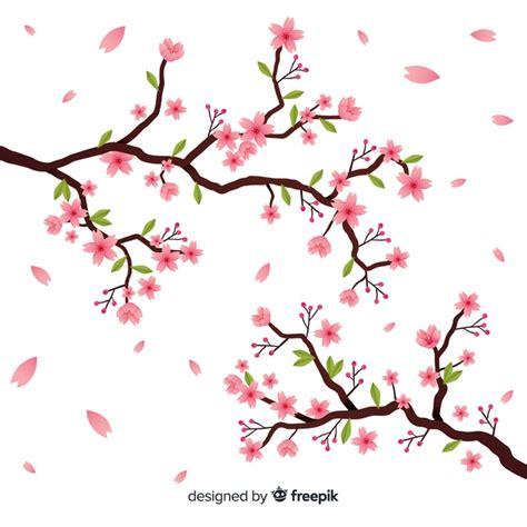foto de Ramo de flor de cerejeira desenhado a mão Baixar vetores