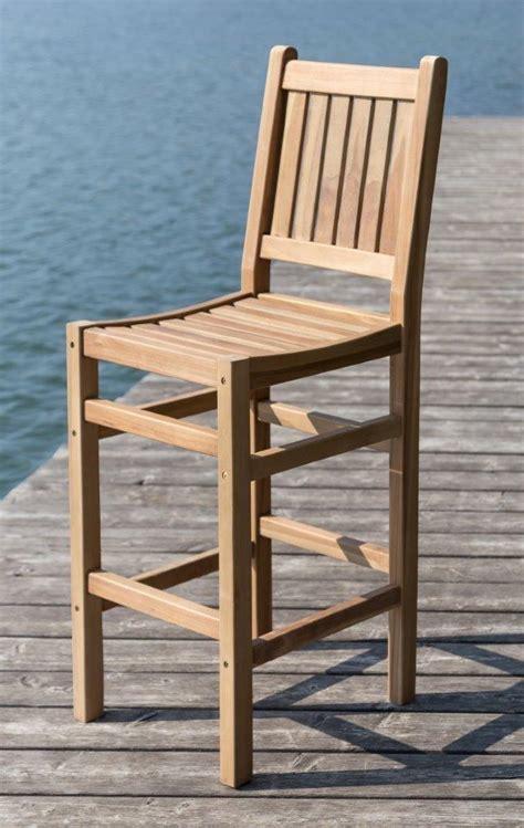 teak stühle garten barhocker in teak f 252 r den garten oder terasse