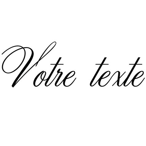 sticker texte personnalisable calligraphie chic stickers