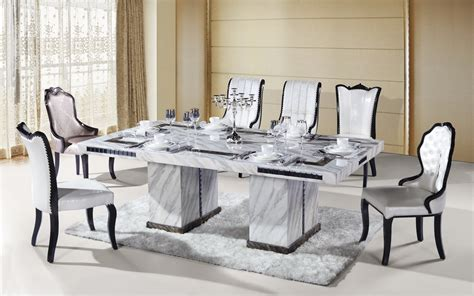 seater rectangle marble dining table tradekorea