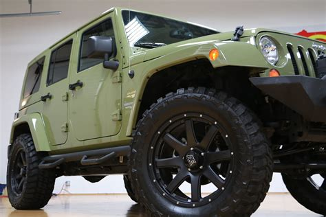commando green jeep lifted 2013 jeep wrangler unlimited moab sahara for sale lifted