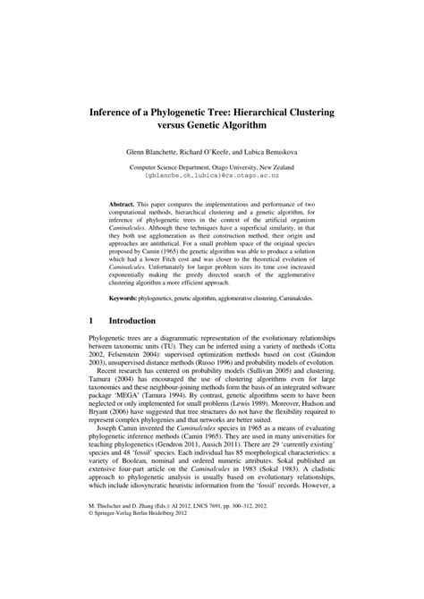 (PDF) Inference of a Phylogenetic Tree: Hierarchical