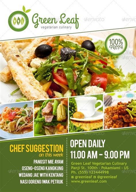 poster cuisine vegetarian restaurant menu poster menu poster