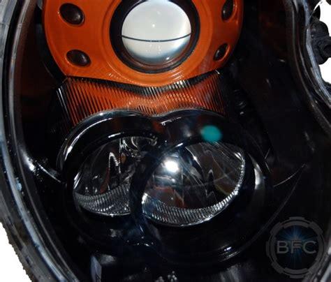 cooper mini headlights orange 2005 xenon custom painted blackflamecustoms