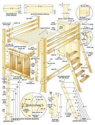 bunk bed plans images  pinterest bunk bed