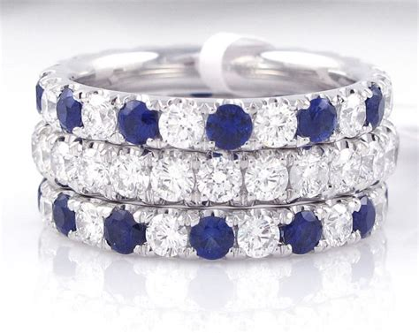 stackable diamond sapphire rings our colorful stack