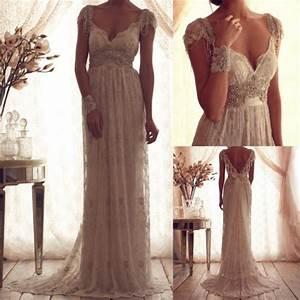 2016 best vintage v neck sheer cap sleeve wedding dress With vintage beaded lace wedding dress