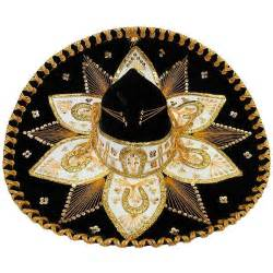 decorative canisters kitchen mexican sombreros collection black gold charro sombrero som004