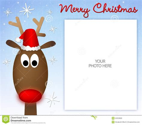 merry christmas reindeer photo frame stock illustration image 22253826