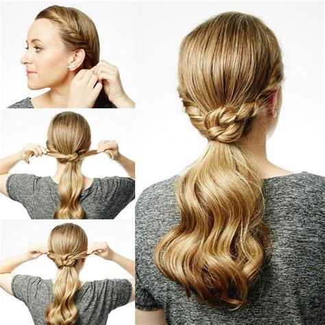 3 Easy Step Ponytail Hairstyle Blurmark