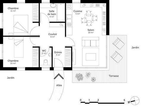 plan maison plain pied 1 chambre plan maison plain pied 60 m ooreka