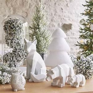 Deco Noel Blanc : deco noel blanc notre inspi avec bougeoirs arbres lumineux guirlandes c t maison ~ Teatrodelosmanantiales.com Idées de Décoration