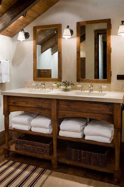 rustic double sink vanity bathroom vanity ideas powder room rustic with bathroom