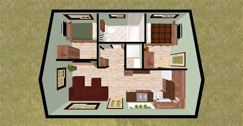 small 2 bedroom cabin plans cozyhomeplans com 432 sq ft small house quot firefly quot 3d top