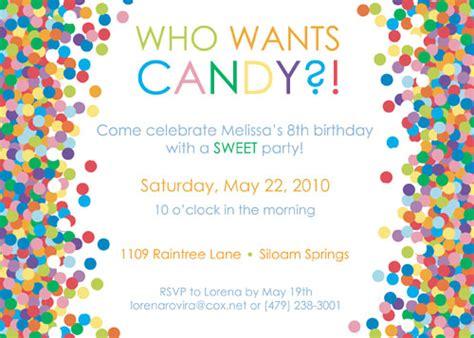 Candy Themed Birthday Party Invitation Ideas  New Party Ideas