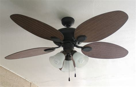 Blade And Light Unique Style Tropical Ceiling Fans With