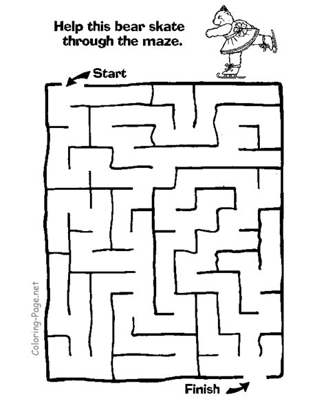 coloring pages mazes coloring home