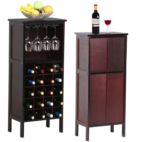 wine rack storage cabinet wood wine cabinet bottle holder storage kitchen home bar