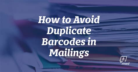 avoid duplicate barcodes  mailings midwest direct