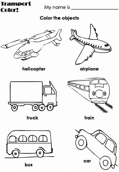 Transportation Coloring Pages Preschool Means Worksheets Land