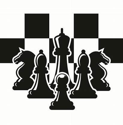 Chess Clipart Pieces Setup Ajedrez Strategy Chessboard