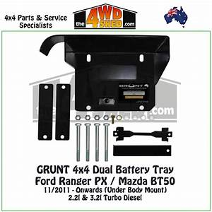 Ford Ranger Px    Mazda Bt50 - Dual Battery Tray