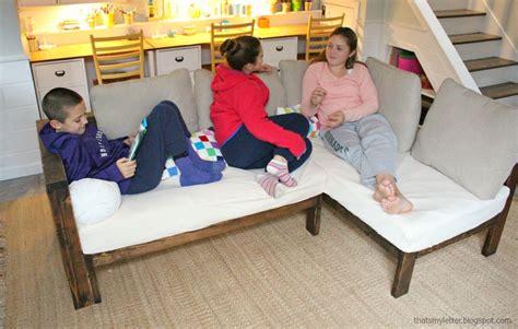 kids couch  diy sectional  crib mattress cushions