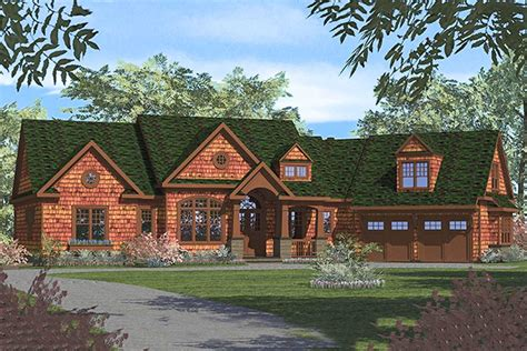rustic ranch  finished  level lv architectural designs house plans