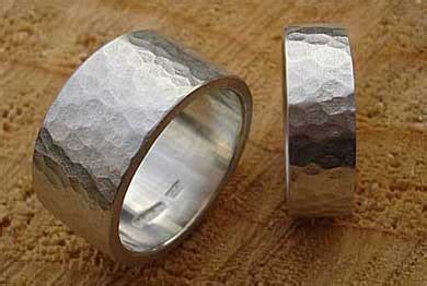 mens hammered silver wedding ring love2have in the uk