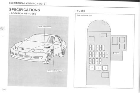 1992 Lexu Ls400 Fuse Box Diagram by Sc400 Fuse Box Location Wiring Diagram