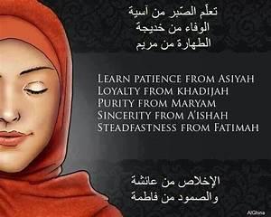 Asiyah, Khadijah, Maryam, A'ishah & Fatimah | Islamic ...