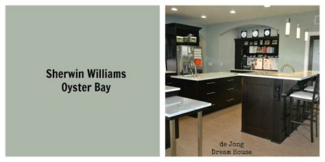sherwin williams oyster bay wall color changes from