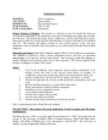 Hvac Resume Objective by Doc 9271200 Best Hvac Installer Resume 65 For Your Free