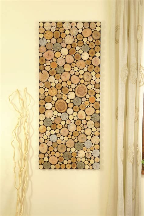 tree wall decor wood reclaimed wood of tree rounds wall panel environment wall