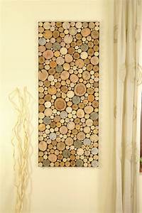 reclaimed wood art of tree rounds wall panel environment wall With wall panel art