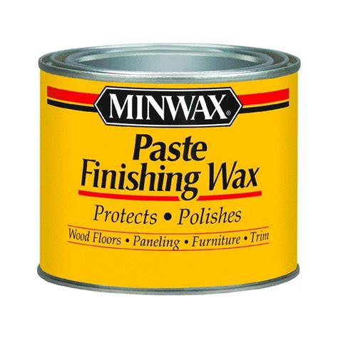 wood wax minwax paste wax clear or dark 1 lb furniture use w chalk paint wood floors