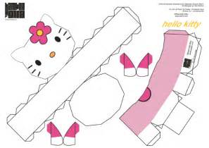 Hello Kitty Paper Toy Template