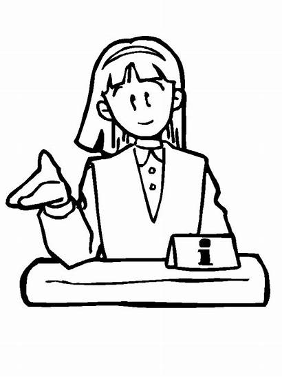 Coloring Pages Business Office3 Office Community Woman